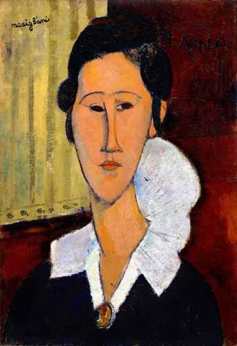 Comprar portrait and figure - Retrato de Anna Zborowska online - Modigliani, Amedeo