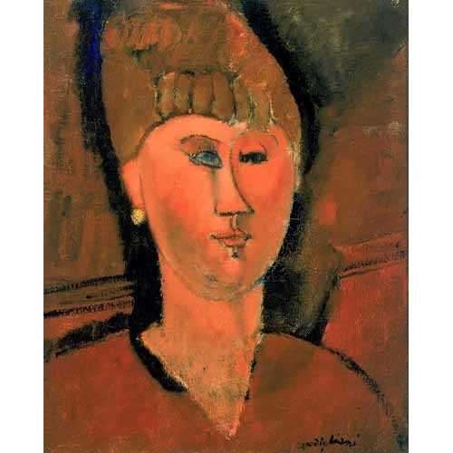 Comprar portrait and figure - La chica roja online - Modigliani, Amedeo