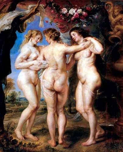 portrait and figure - Las tres gracias - Rubens, Peter Paulus