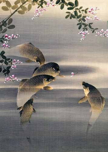 Comprar ethnic and oriental paintings - Peces online - _Anónimo Japones