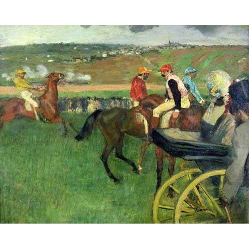 "cuadros de fauna - Cuadro ""The race course"" - Degas, Edgar"