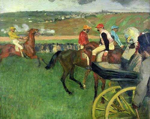 animals - The race course - Degas, Edgar
