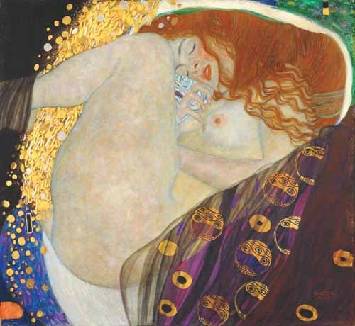 portrait and figure - Danae - Klimt, Gustav