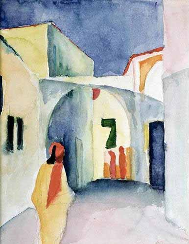 cuadros de retrato - Cuadro A Glance Down an Alley - Macke, August