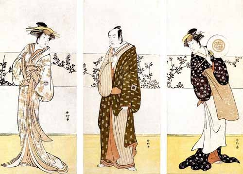 ethnic and oriental paintings - Actores japoneses - Sunko, Kaisukawa