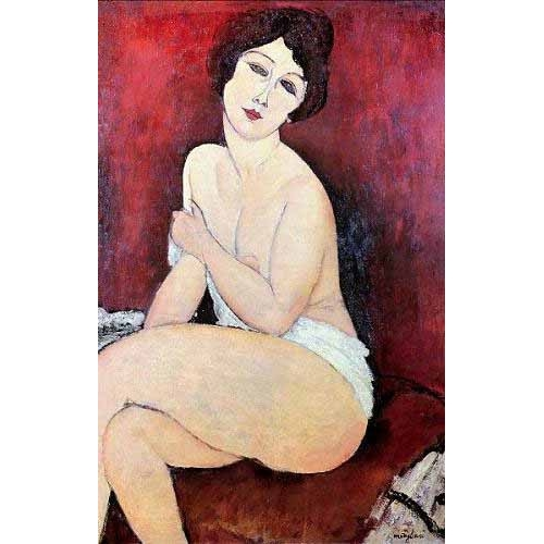 Comprar nude paintings - Large Seated Nude online - Modigliani, Amedeo