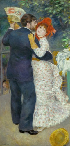 portrait and figure - A Dance in the Country - Renoir, Pierre Auguste
