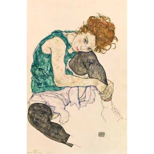 Comprar  - Cuadro Seated Woman with Bent Knee online - Schiele, Egon