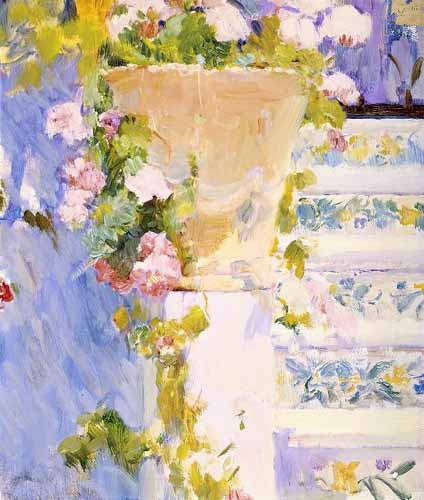 decorative paintings - Jardín de la casa del artista X - Sorolla, Joaquin
