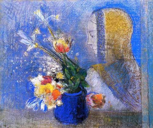 flowers - Meditation - Redon, Odilon