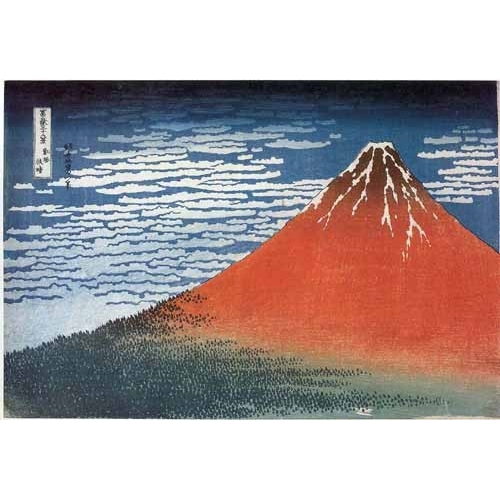 Comprar ethnic and oriental paintings - Red Fuji II online - Hokusai, Katsushika
