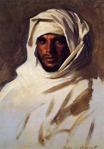 ethnic and oriental paintings - A Bedouin Arab - Sargent, John Singer