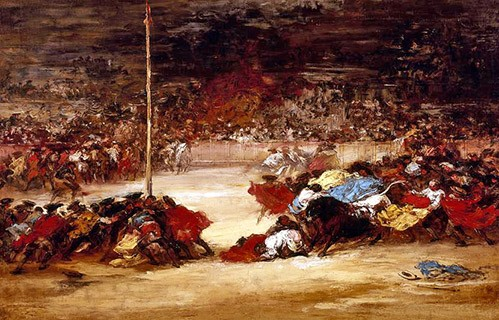 maps, drawings and watercolors - La corrida - Goya y Lucientes, Francisco de