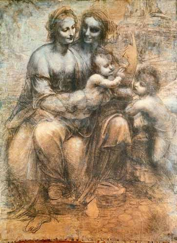 Comprar maps, drawings and watercolors - La Virgen, el Niño y Santa Ana online - Vinci, Leonardo da