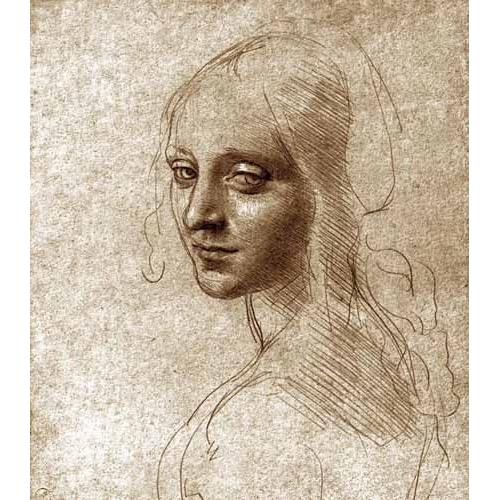 Comprar cuadros de mapas, grabados y acuarelas - Cuadro Angel face of the Virgin of the Rocks online - Vinci, Leonardo da