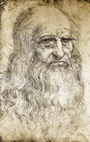 maps, drawings and watercolors - Autorretrato de Leonardo da Vinci - Vinci, Leonardo da