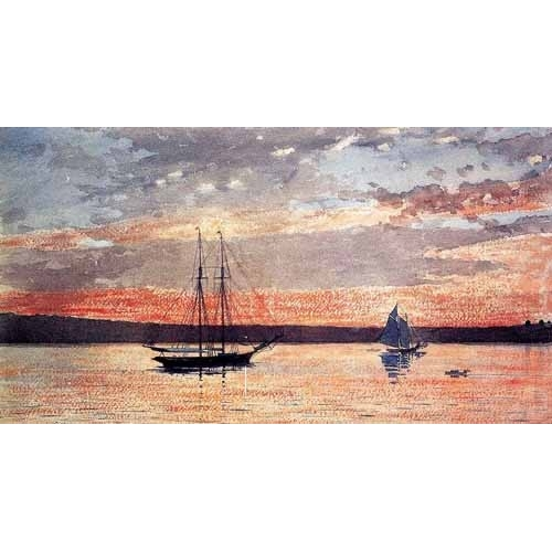 Comprar maps, drawings and watercolors - Atardecer en Gloucester online - Homer, Winslow