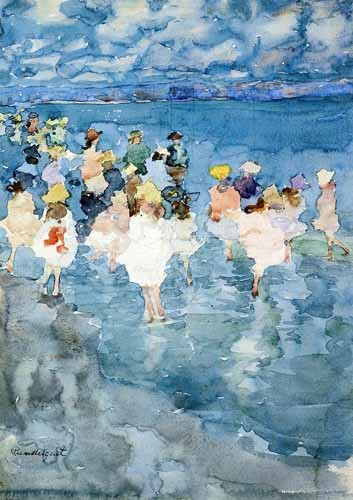 Comprar maps, drawings and watercolors - Niños en la playa online - Prendergast, Maurice