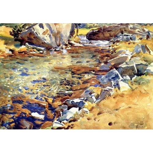 Comprar maps, drawings and watercolors - Brook among Rocks online - Sargent, John Singer