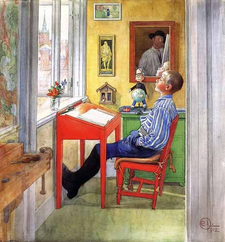 for children - Esbjorn haciendo sus deberes - Larsson, Carl