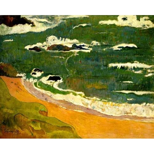 Comprar seascapes - Playa de Le Poldu online - Gauguin, Paul