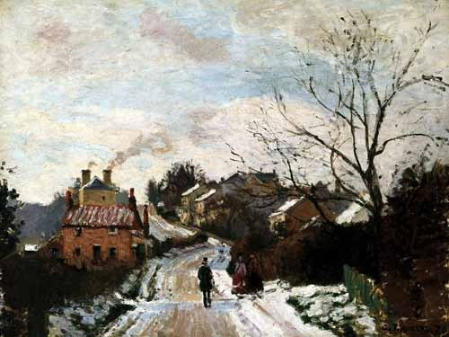 landscapes - Lower Norwood bajo la nieve - Pissarro, Camille