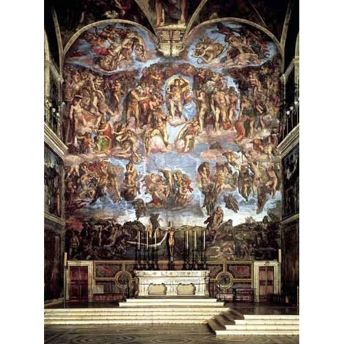 Comprar religious paintings - Retablo: Juicio final online - Buonarroti, Miguel Angel