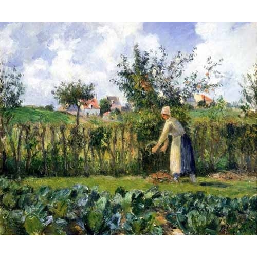 Comprar  - Cuadro The cutting of the hedge online - Pissarro, Camille