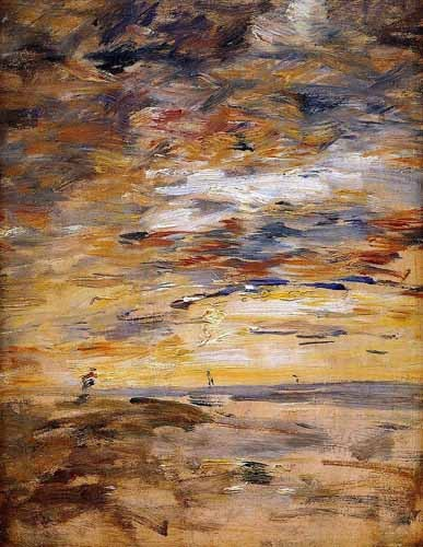 abstracts paintings - Sky at sunset - Boudin, Eugene