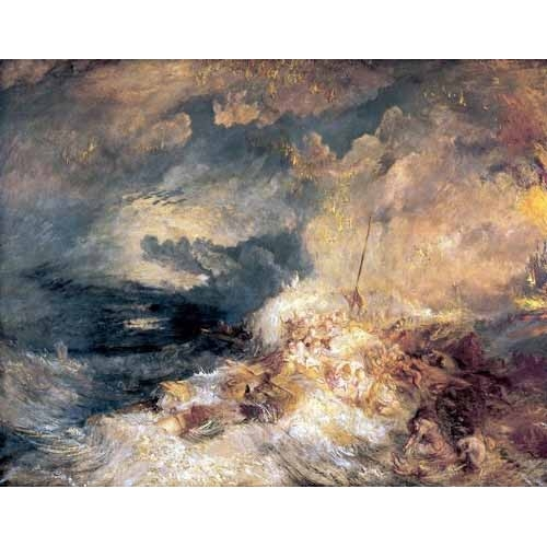 Comprar seascapes - Incendio en el mar online - Turner, Joseph M. William