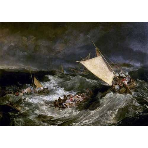 Comprar seascapes - Naufragio de barco de transporte online - Turner, Joseph M. William