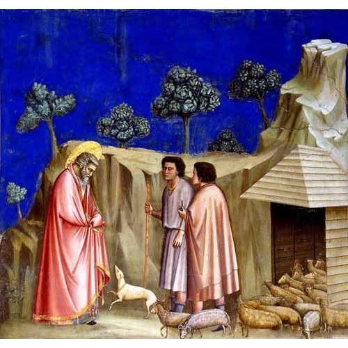 Comprar religious paintings - Joachim retires to the sheepfold online - Giotto, Bondone di