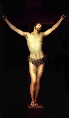 religious paintings - Cristo crucificado - Goya y Lucientes, Francisco de