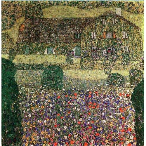 Comprar  - Cuadro Country house by the Attersee online - Klimt, Gustav