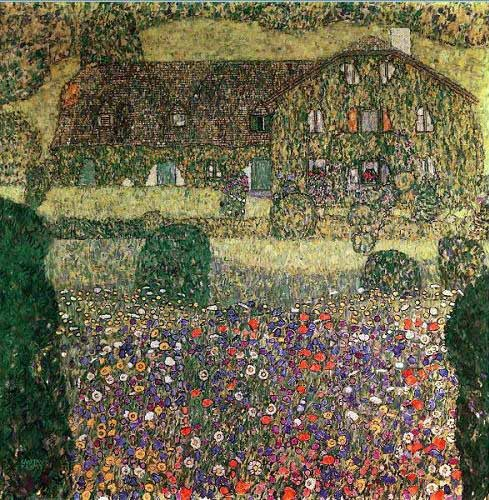 landscapes - Country house by the Attersee - Klimt, Gustav